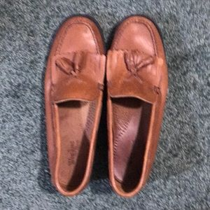 Bass loafers.Tan leather upper.Size 8 1/2. Woman's